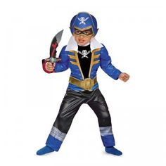 Little kids will love dressing up as the Blue Ranger for Halloween, especially with the cool muscle padding that will make them feel super strong.