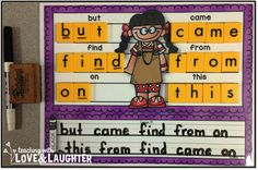 Build and Write {Kindergarten Sight Words Edition}