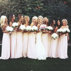 Love the bridesmaids dresses here