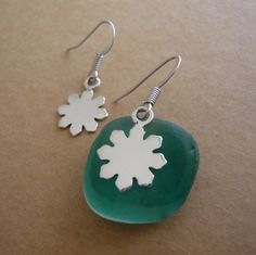 Snowflake earring  925 sterling silver by TaliaJewelry on Etsy, $34.80