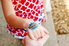 Temporary tattoos with emergency contact info. GENIUS!!! For summer vacations, amusement parks, class trips... For sale at mae-june.myshopify.com