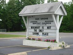 real church signs