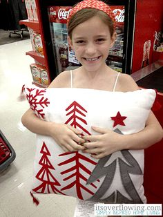 ItsOverflowing -Christmas Pillow from Target