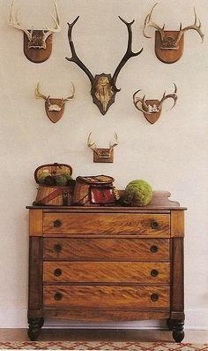 style decor, interior, cabin, idea, antlers