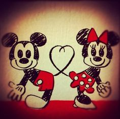 mickey and minnie:)