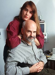 Family man: Terry Pratchett with his daughter Rhianna in 1998