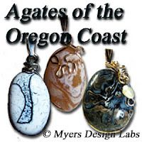 Handcrafted agate jewelry, wire wrapped and designed by FACETS Gem & Mineral Gallery in Newport, Oregon.