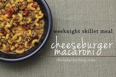Easy Weeknight Skillet Meal: Cheeseburger Macaroni #recipe #skilletmeal