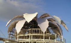 The Very Fabric of Architecture: textile use in construction - Venezuelan pavilion designed by architect Fruto Vivas; construction: Rasch und Bradatsch Architekten / 3dtex GmbH