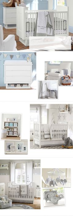 Baby Nursery Themes & Nursery Design | Pottery Barn Kids. Love the simple calm colors of this nursery