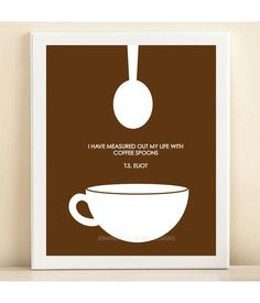 Brown Coffee print poster by AmandaCatherineDes on Etsy. $15.00 USD, via Etsy.