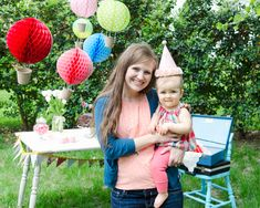 me and my baby girl at her Hot Air Balloon 1st Birthday party!
