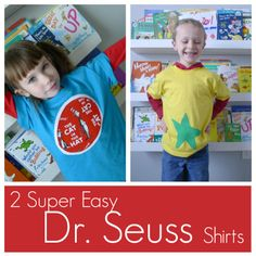 Pieces by Polly: 2 DIY Super Easy Dr. Seuss Themed Shirts - The Cat in the Hat and a Star-Bellied Sneech