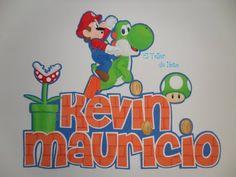 Aplique de Mario Bros y Joshi