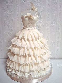 Bridal Shower:  wedding dress cake
