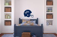 GroopDealz | Personalized Football Helmet Vinyl Wall Decal