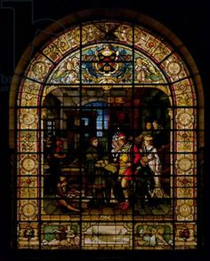 window, stain glass, stained glass
