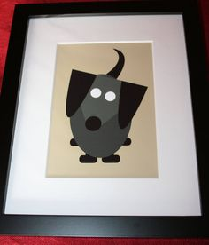 Framed Black Dachshund Print Dog  available from the Furever Dachshund Rescue Etsy Shop!