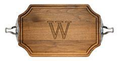 Walnut Selwood 12x18 inch Monogrammed Cutting Board