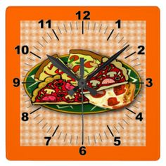 Pizza Slices Wall Clock by elenaind