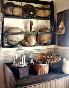 Lovely old wooden bowls