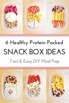 A healthy and easy roundup of 6 different ways to diy your own protein snack boxes! Make this part of your meal prep routine and avoid mindless snacking or an afternoon energy slump. As much as I love food and amazingly prepared meals… I think snacking is my favorite thing. It's also something I struggle …