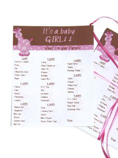 #BabyShower Games and printables from @AdelmannMama