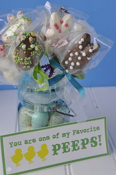 cute chocolate covered Peeps gift