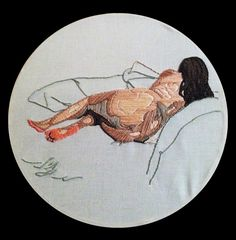 Life drawing embroidery by Zearley