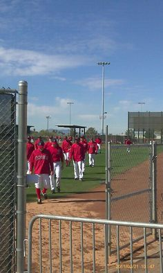 Angels at the Tempe Diablo practicing before Spring Training season, Feb., 2011