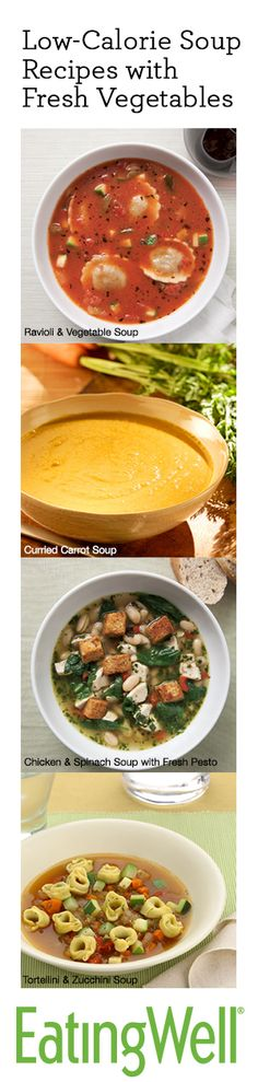20+ Low-Calorie Soups from EatingWell.com-- what's your favorite soup recipe?