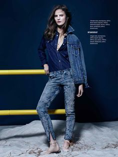 Denim: #TildaLindstam by #JohnScarisbrick for #ElleSweden April 2014