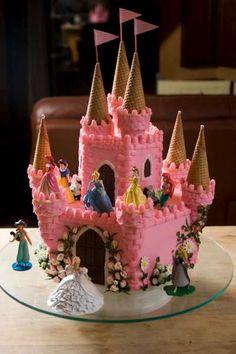 Princess birthday cake by JeanniesCakeShop.com