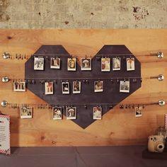 photo boards, idea, wedding planning, weddings, family photos, photo displays, polaroid display, photo wall, photo booth