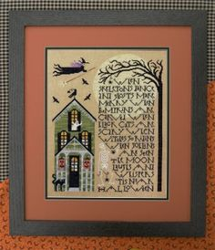"""""""When Skeletons Dance"""" is the title of this cross stitch pattern from The Drawn Thread"""