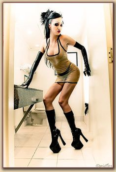Latex Halter Mini Dress Translucent Clear by DeadlyCouture on Etsy, $148.00
