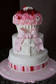 Cupcake Baptism Cake