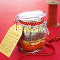 Curried Lentil Soup mix in a jar - a great gift idea!  Spices are mixed in.  I like that.