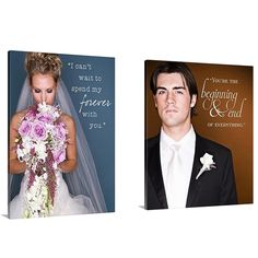 Bride and Groom ... Photos with love notes to each other ... Great anniversary gift to one another! geezees.com