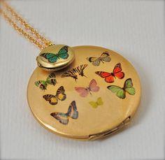 Butterfly Gallery Locket