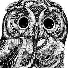 Zetangle owl