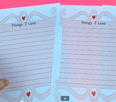 Things I Love FREE Writing Activity by Christine Maxwell - There are three different writing grids, so you can pick the right writing lines for your age group. Next there is a page for the students to illustrate what they wrote.