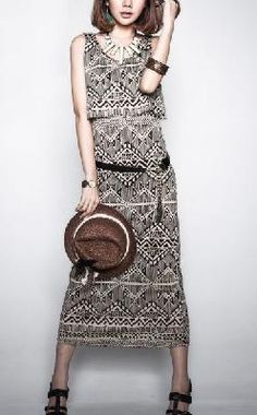 Stand Out Tribal Print Maxi Dress