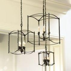 Carriage House Chandelier | Large Chandelier | Dark Bronze Chandelier |