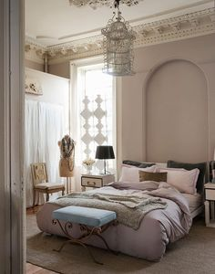 A light and airy bedroom.