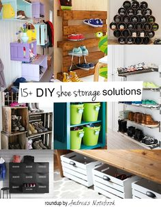 Shoe piles driving you bonkers? 15+ DIY shoe storage and organization ideas for families.