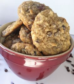 Loaded Oatmeal Cookies: Chewy oatmeal cookies loaded with coconut, dried cranberries and chocolate chips  // A Cedar Spoon