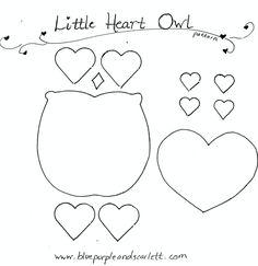 heart owl pattern