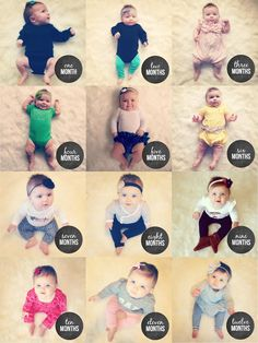 Very cute 12 months of baby photography idea | Little Baby Garvin