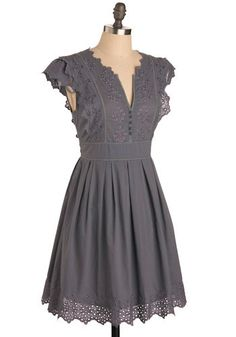 Pianola Dress in Grey